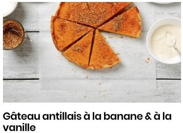 gâteau antillais banane vanille