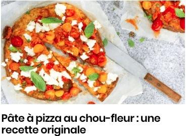 pizza chou-fleur