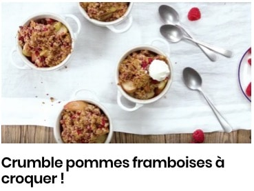 crumble pommes framboises