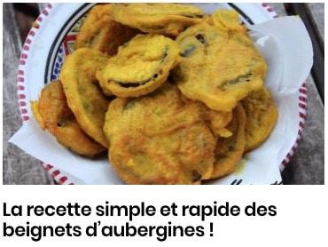 beignets aubergines