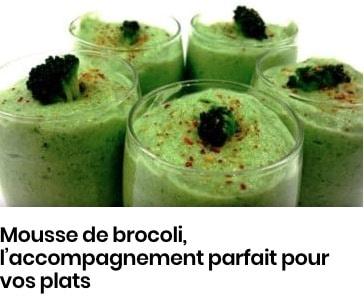 mousse de brocolis