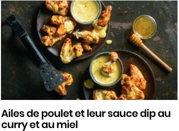 aile de poulet curry sauce dip