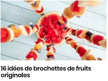 brochettes de fruits originales