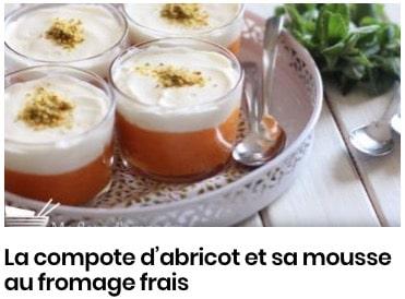 compote abricots