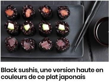 Black sushis