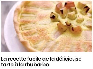 tarte rhubarbe