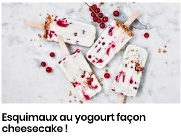 esquimaux fraise cheesecake