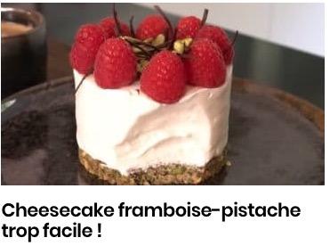 cheesecake framboise pistache