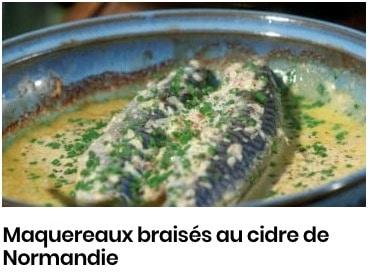 maquereaux braisés cidre normandie