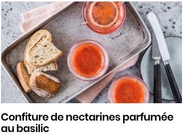 confiture nectarine basilic
