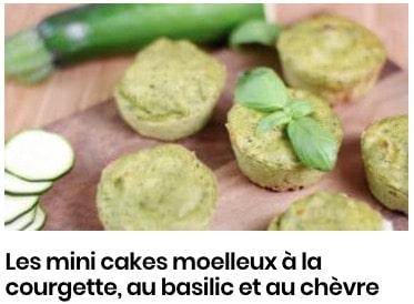 cakes moelleux courgettes chèvre