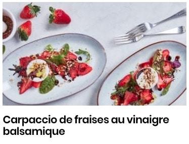 carpaccio de fraises au vinaigre