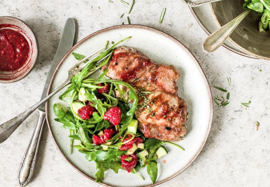 Steak de porc sauce Framboise