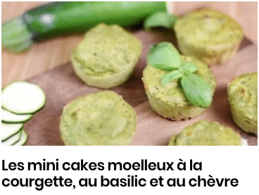 minis cakes courgette basilic