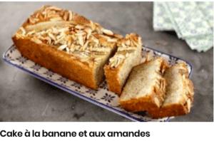 cake banane amandes