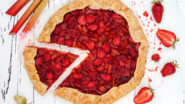 tarte rhubarbe fraises