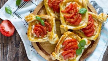 feuilletés tomate chèvre