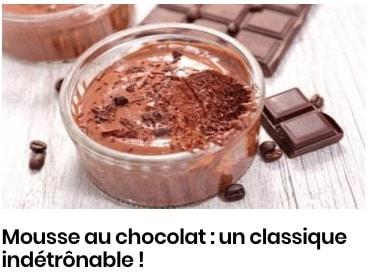 mousse chocolat