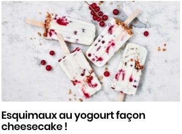 esquimaux yogourt cheesecake