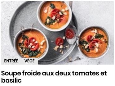 gaspacho aux deux tomates
