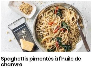 spaghettis huile de chanvre