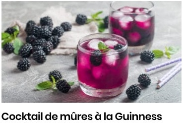 cocktail mûres guinness