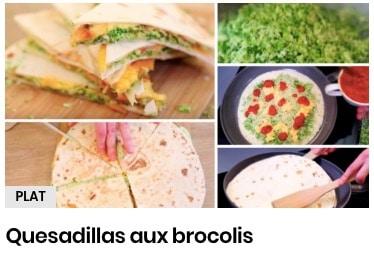 quesadillas brocolis