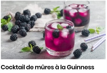 cocktail mûre guinness