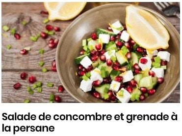 Salade de concombre à la persane