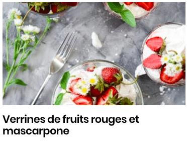 verinnes de fruits rouges mascarpone