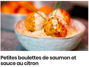 boulette saumon sauce citron