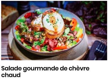 salade gourmande chevre chaud