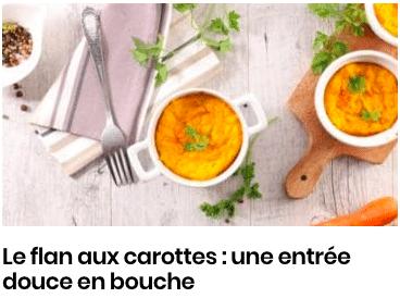 flan de carotte
