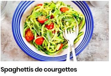 spaghettis courgettes