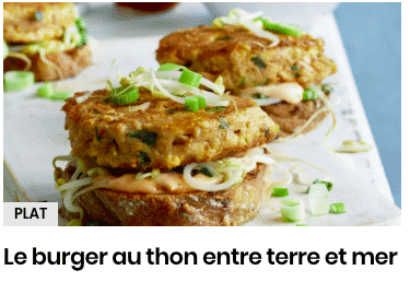 burger au thon