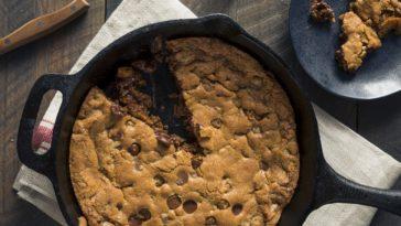 Gâteau à la poêle au pépites de chocolat