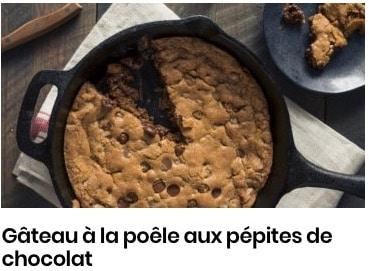 gâteau à la poêle aux pépites de chocolat