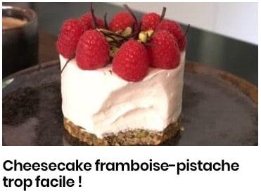 cheesecake framboises