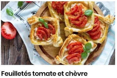 feuilleté tomate chèvre