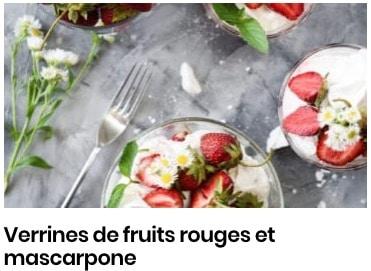 verrines mascarpone fruits rouges