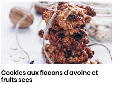 cookies flocons d'avoine et fruits secs