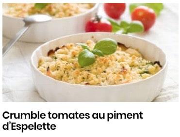 crumble tomate piment