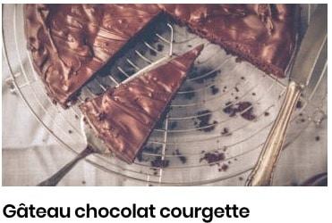 gâteau courgette chocolat