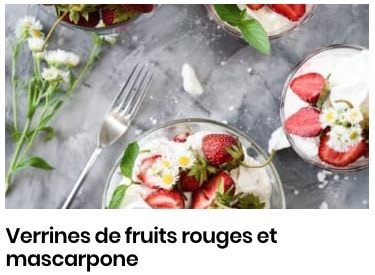 verrines fruits rouges