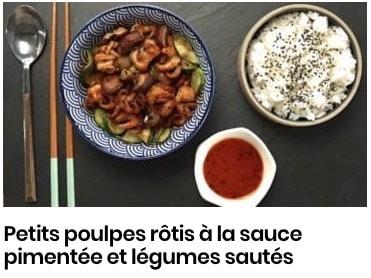 petits poulpes sauce pimentée