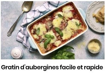 gratin aubergines facile
