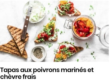 tapas au poivrons marinés