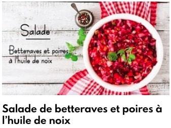 salade betterave et poire