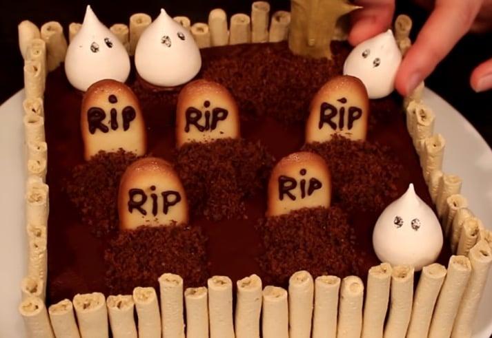 gâteau cimetière halloween