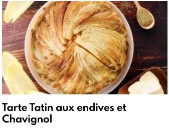 tarte tatin aux endives et chavignol